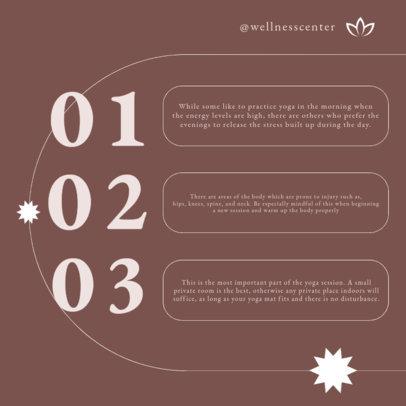 Wellness Instagram Post Design Maker for a Carousel With Yoga Tips 4142c-el1
