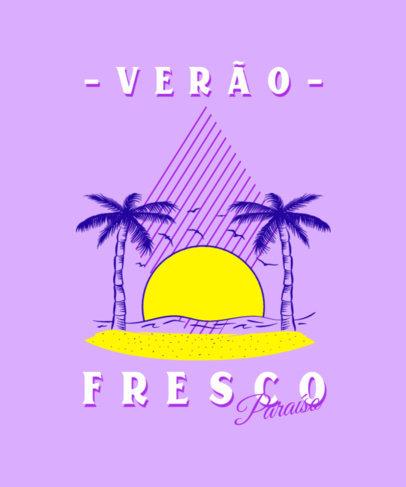 Retro T-Shirt Design Maker Featuring a Summer Vacation Theme 3842f
