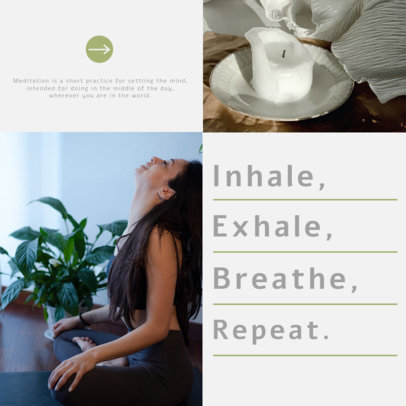 Instagram Post Design Generator for a Wellness Carousel Featuring Meditation Tips 4141f-el1