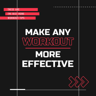 Instagram Post Creator with Tips for an Effective Workout 4148f