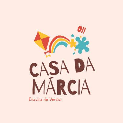 Childish Logo Maker for a Summer Camp 4486h