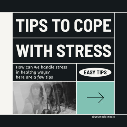 Instagram Post Maker for Stress-Coping Advice 4144A-el1