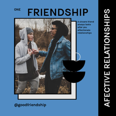 Instagram Post Design Template for a Carousel With Friendship Advice 4156a-el1