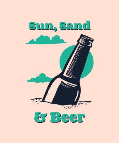 Summer T-Shirt Design Creator Featuring a Beer Bottle Graphic 3842k