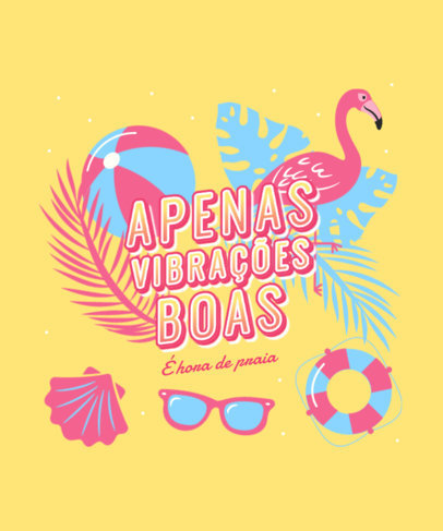 Tropical-Style T-Shirt Design Creator for Summertime with a Bold Quote 3846f