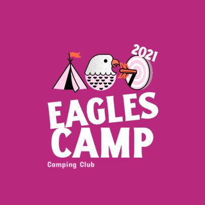 Logo Generator for a Kids Camping Club 4486j