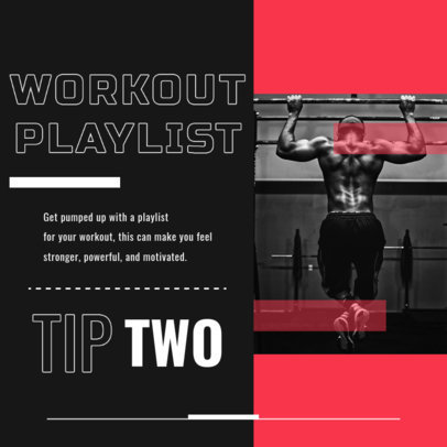 Instagram Post Creator with a Fun Tip for an Effective Workout 4150f-el1