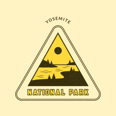 Logo Template for a National Park Featuring Outdoor-Themed Illustrations 4482a