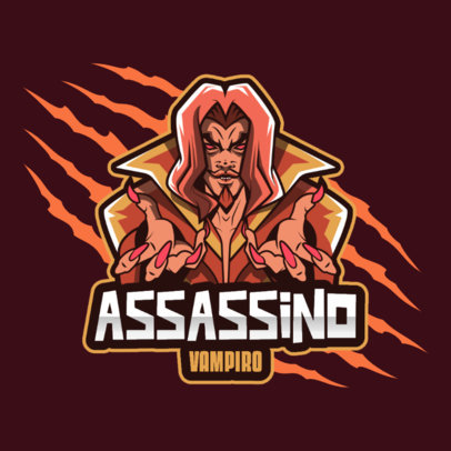 Gaming Logo Maker Featuring a Heavy Metal-Inspired Dracula Graphic 4492