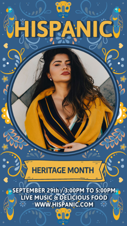 Instagram Story Design Maker With Pictures and a Hispanic Heritage Month Theme 3864