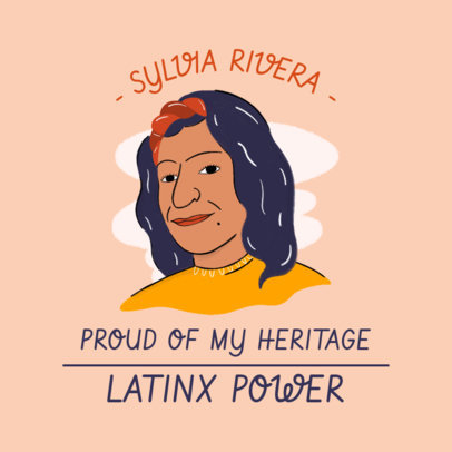 Instagram Post Maker with Emblematic Hispanic Heritage Month Characters 3860