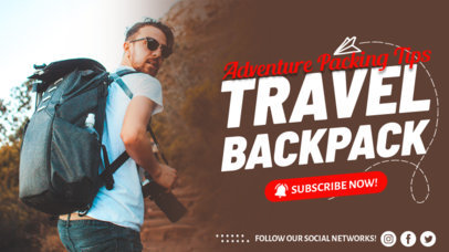 YouTube Thumbnail Design Template for Travel Vloggers 4169-el1
