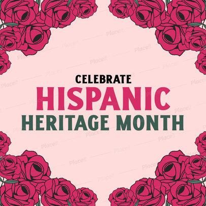 Instagram Post Design Template to Commemorate Hispanic Heritage Month 3861