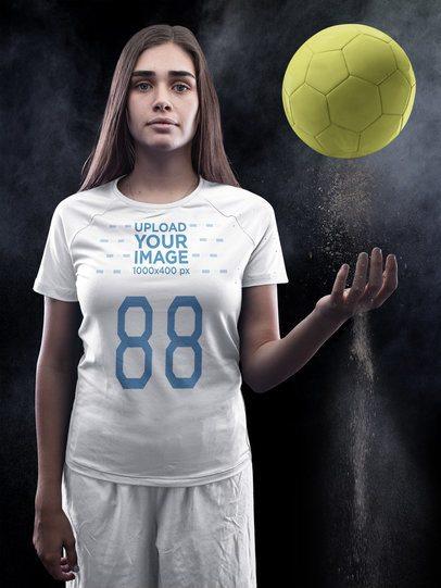 Custom Soccer Jerseys - Pretty Girl with Attitude a16526