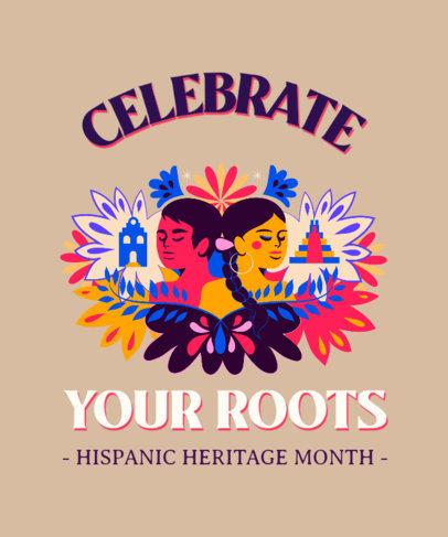 T-Shirt Design Template for a Hispanic Heritage Month Celebration 3858c