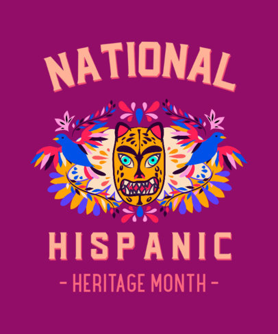 Colorful T-Shirt Design Generator With a Hispanic Heritage Month Theme 3858a