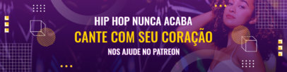 Patreon Cover Template for a Brazilian Hip Hop Music Creator 3872h