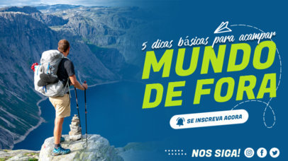 Travel-Themed YouTube Thumbnail Design Template With Text in Portuguese 4169a-el1