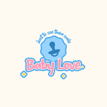 Adorable Logo Creator for a Baby Products Brand 4183f-el1
