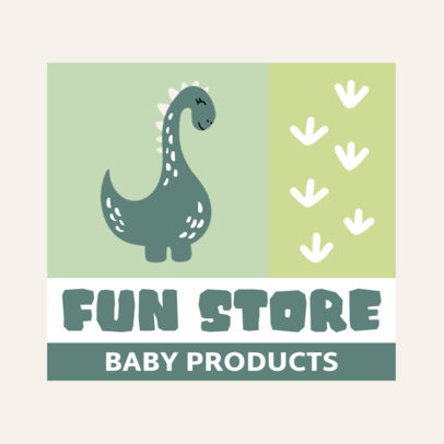 Cute Logo Maker for Baby Stores Featuring a Dinosaur Clipart 4191b-el1