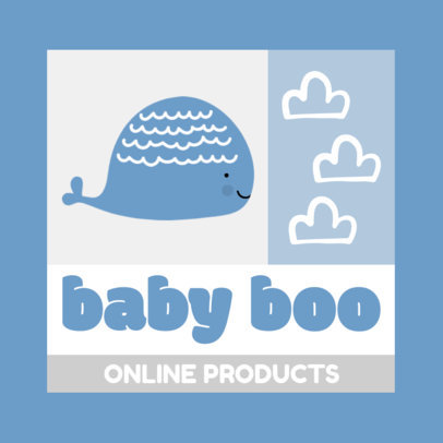 Logo Maker for Baby Stores With a Square Layout and Cute Icons 4191e-el1