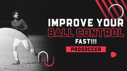 YouTube Thumbnail Template for Soccer Skills Tutorials 4165a-el1
