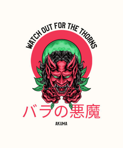 T-Shirt Design Maker with Japanese Text and an Oni Mask Graphic 4181e-el1