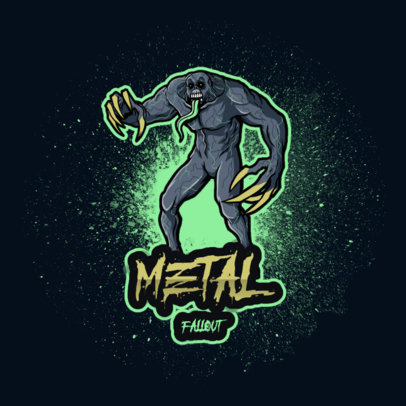 Metal-Inspired Logo Maker With a Monster Clipart 4492h