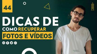 YouTube Thumbnail Maker for a Brazilian Technology Vlogger 4176e-el1