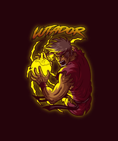 T-Shirt Design Creator with a Street Fighter-Inspired Graphic in a Metal Style 4503f