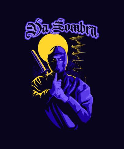 Gaming T-Shirt Design Creator Featuring an Evil Ninja Clipart 4501g