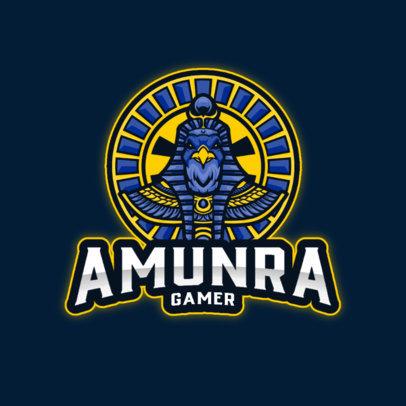 Gaming Logo Maker Inspired by Egyptian Mythology 4217-el1