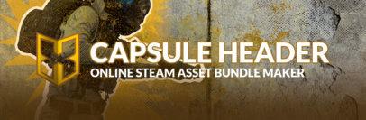 Steam Capsule Template Featuring Gaming Monograms 3895