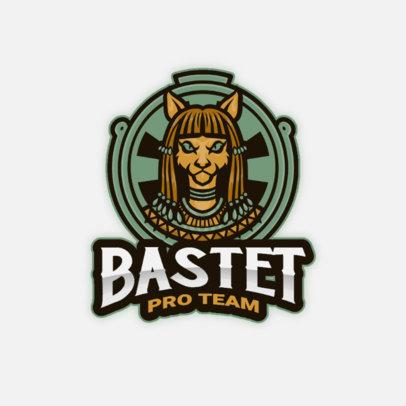 Egyptian Gods-Themed Logo Template for a Gaming Team 4217e-el1