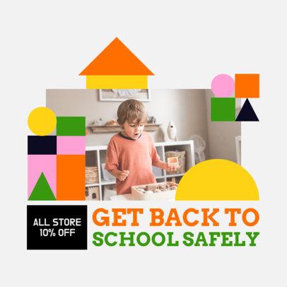 Sales Instagram Post Design Maker for a Safe Return to School 4211f-el1