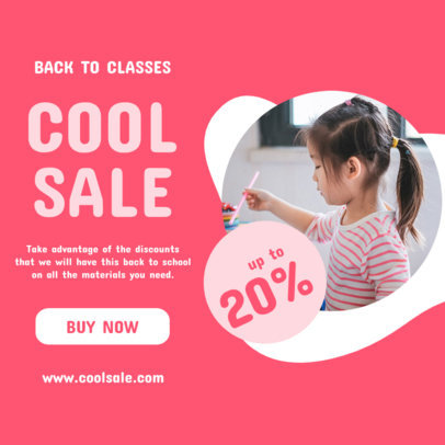 Instagram Post Generator With a Cool Back-to-School Discount 4213e-el1