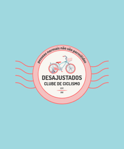T-Shirt Design Maker for a Brazilian Cycling Club 4201e-el1