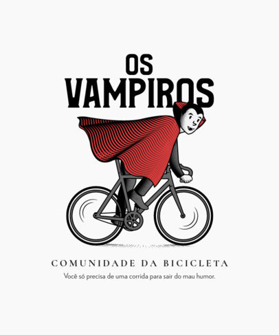 T-Shirt Design Maker Featuring an Illustration of a Vampire Riding a Bike 4199-el1