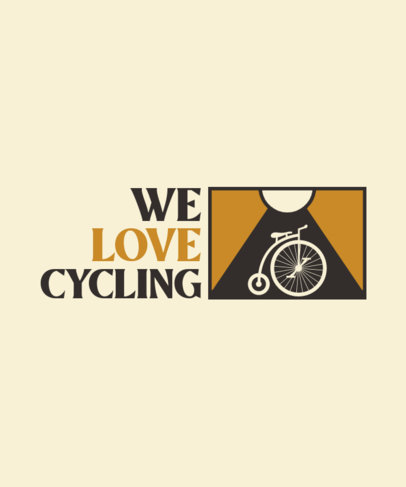 Quote T-Shirt Design Template Featuring a Vintage Bicycle Clipart 4207b-el1