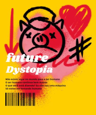 Trendy T-Shirt Design Creator Featuring a Graffiti Pig Graphic 3684a