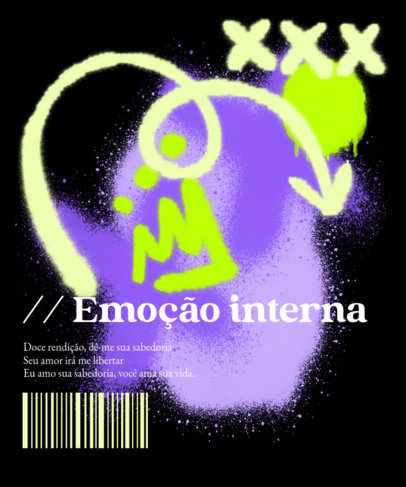 Graffiti-Inspired T-Shirt Design Maker Featuring Portuguese Text 3684c