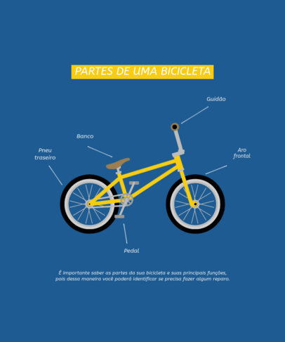 T-Shirt Design Creator With a Diagram of a Bicycle 4203e-el1