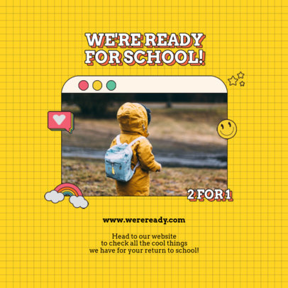 Instagram Post Design Generator With a Back-to-School Offer 4209a-el1