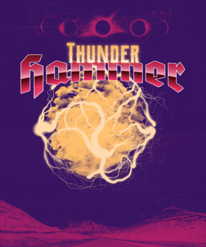 T-Shirt Design Creator Featuring Bold Fonts and Thunder Graphics 4513g