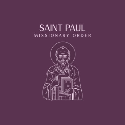 Logo Generator for a Catholic Order Featuring a Saint Paul Graphic 4510a
