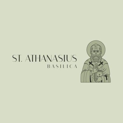 Logo Maker for a Catholic Temple Featuring a Saint Athanasius Graphic 4510e