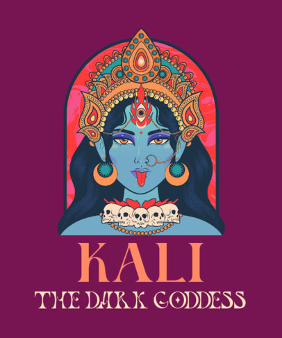 Illustrated T-Shirt Design Creator With a Kali Graphic 3890e