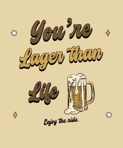T-Shirt Design Template Featuring Quotes About Beer 4225-el1