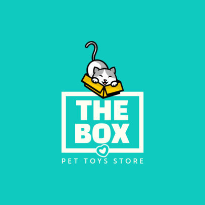 Logo Template for Pet's Toys with a Cute Cat Graphic 4243e-el1