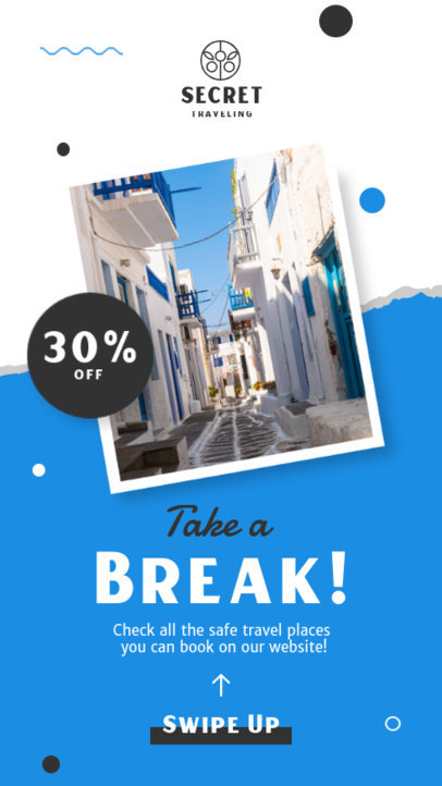 Instagram Story Creator for a Travel Agency Limited Time Discount 4247c-el1